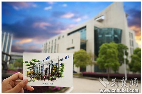 武汉轻工大学大四工科男手绘明信片赠毕业生 组图