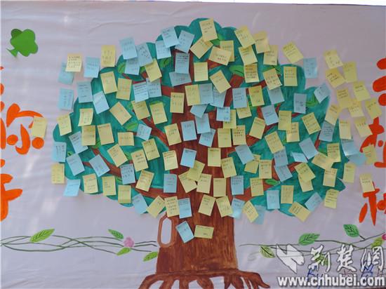 """高校""""绿精灵""""植树节手写200张环保标语"""