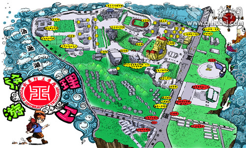 美丽中国手绘地图儿童画