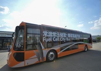 """世界首台常温常压氢能客车""""泰歌号""""在汉诞生"""