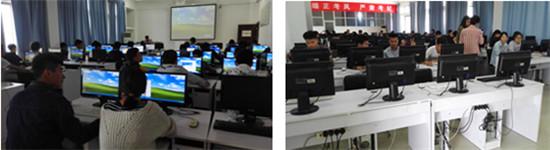 建筑设计专业学生在机房进行计算机辅助设计专项训练
